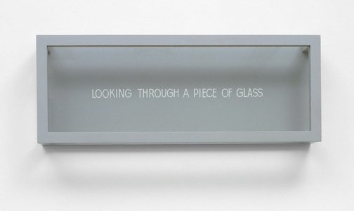 An image of Looking through a piece of glass by Ian Burn