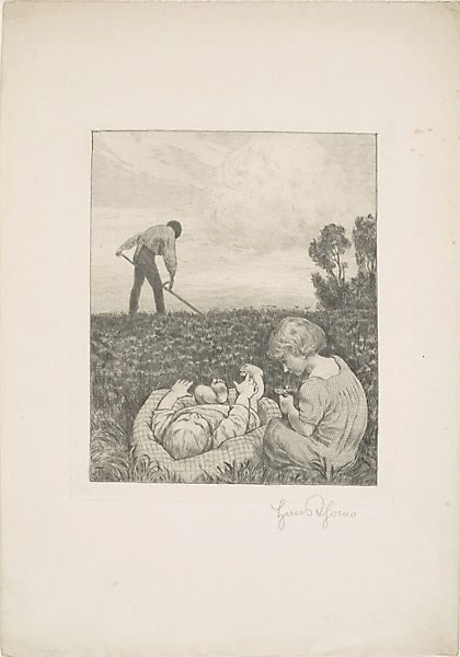 An image of Idylle III by Hans Thoma