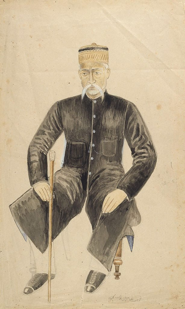 An image of Portrait of a seated gentleman