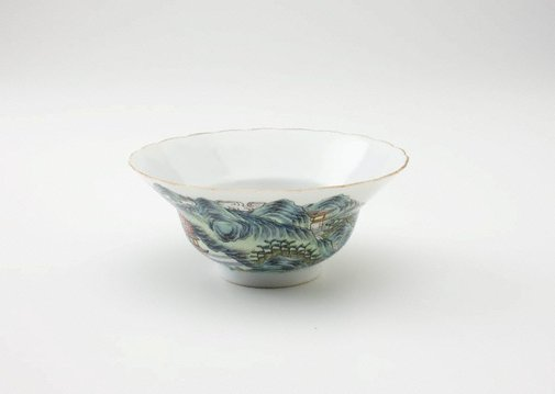 An image of Bowl decorated with Daoist isles by Jingdezhen ware