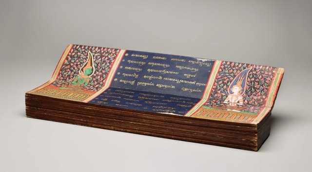 An image of Illustrated manuscript of 'Phra Malai' (poem about the venerable Monk Malai)