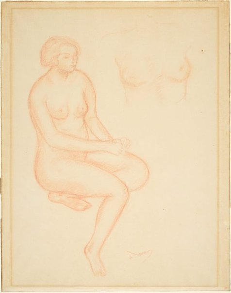 An image of Seated model by André Derain