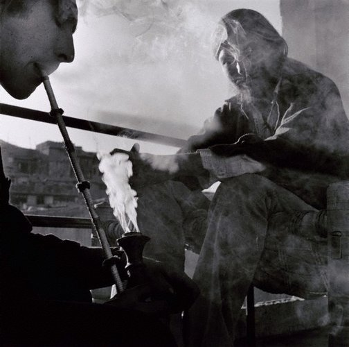 An image of Smoking with the Hash King and Jesus from California, Kabul by Max Pam