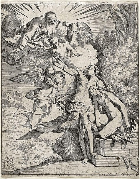 An image of The sacrifice of Isaac by Pietro Testa