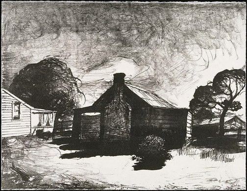 An image of Old kitchen, Mount Rankin by Lloyd Rees