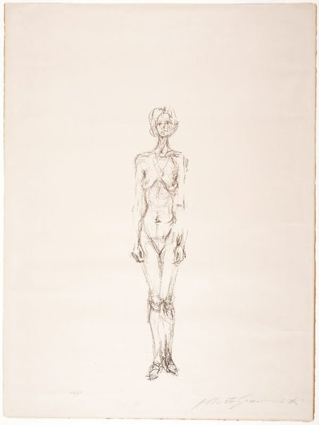 An image of Standing nude II by Alberto Giacometti