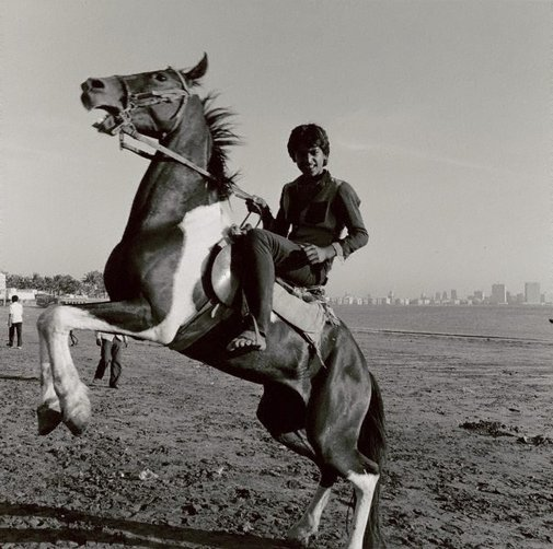 An image of Cowboy, Chowpatty Beach, Bombay by Max Pam