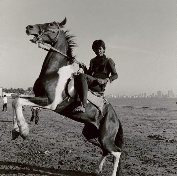 An image of Cowboy, Chowpatty Beach, Bombay