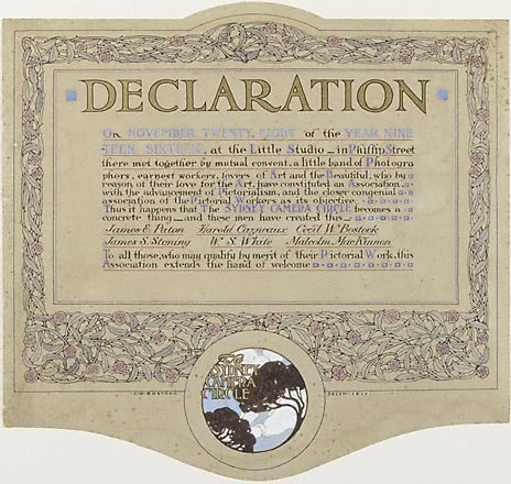 An image of Declaration of the Sydney Camera Circle by Cecil Bostock