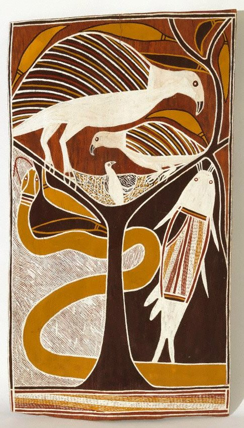 An image of Dhämala Story (sea eagle, catfish and king brown snake)
