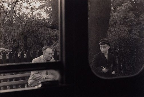 An image of Train spotter, Richmond line, Surrey, England by Lewis Morley