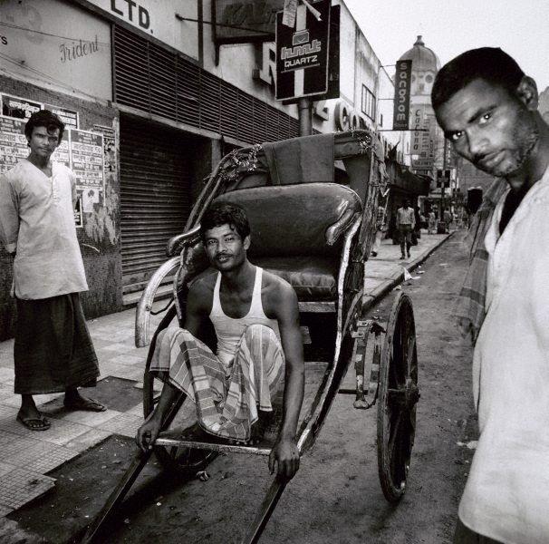 An image of Rickshaw puller – Calcutta