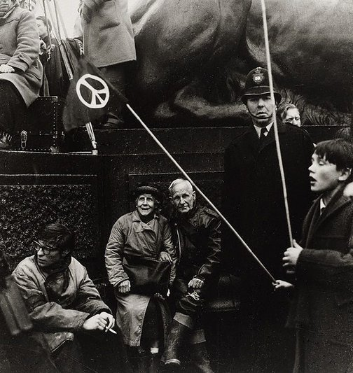 An image of Aldermaston march, Trafalgar Square, London by Lewis Morley