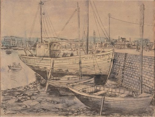 An image of Concarneau by Margaret Olley