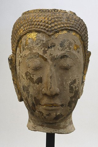 AGNSW collection Head of Buddha (14th century) 136.2000