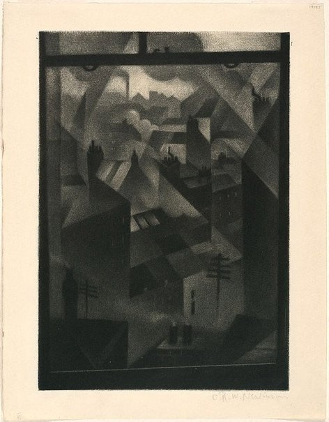 An image of From an office window by C.R.W. Nevinson