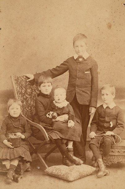An image of Untitled (family portrait of five children) by Henry King