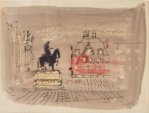 An image of Versailles by John Piper