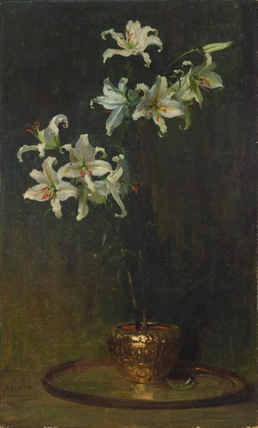 An image of Lilium Auratum by Arthur Streeton