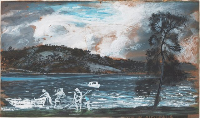 An image of Sketch for 'Storm approaching Wangi'