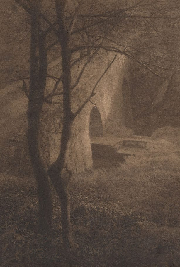 An image of Untitled (landscape - bridge over river)