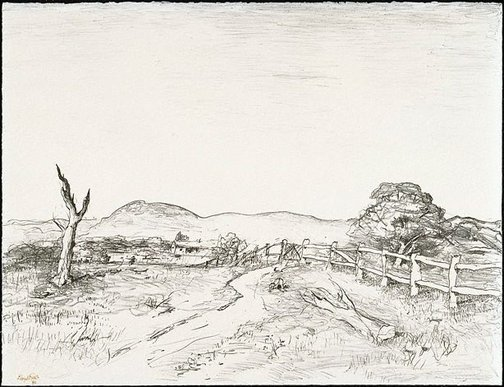An image of O'Connell landscape by Lloyd Rees