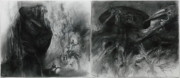 An image of Study for 'The Ubu diptych: Ubu regnant and The senior mandarin'