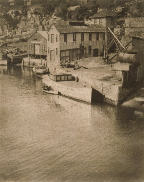 An image of Untitled (Harbour scene, Berry's Bay) by FD Collins