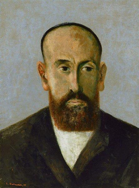 An image of Portrait of Rabbi Porusch by Sali Herman