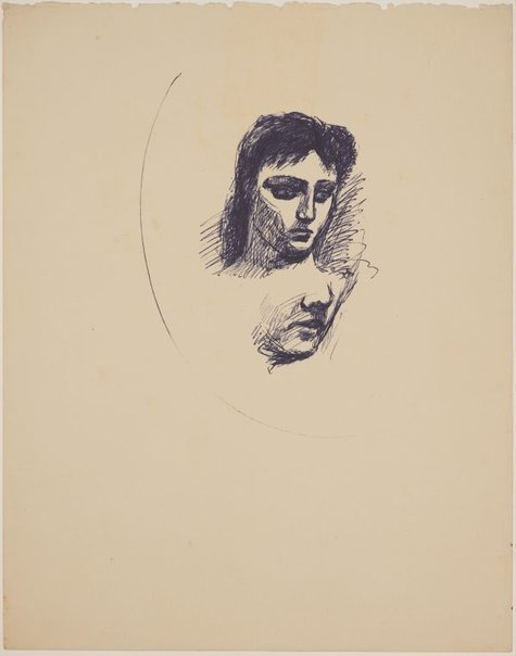 An image of (Two head studies) by James Gleeson