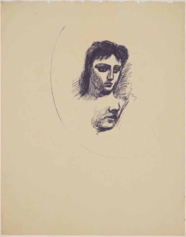 An image of (Two head studies)