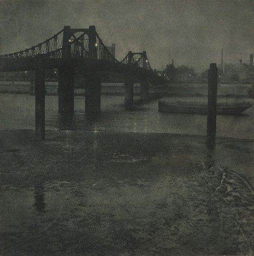 An image of Old Lambeth Bridge by Francis J Mortimer