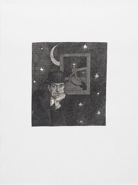 An image of The arrival of Rene Magritte at last by Martin Sharp