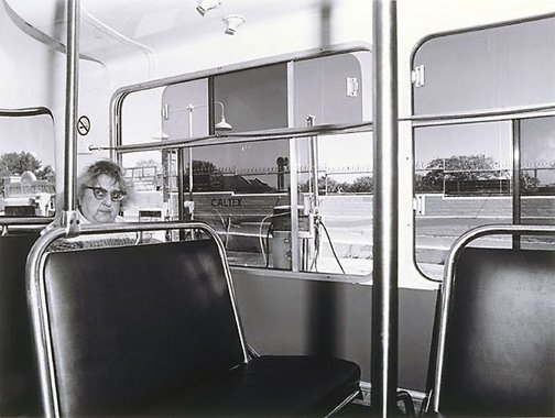 An image of Oxford Street bus lady by Gerrit Fokkema
