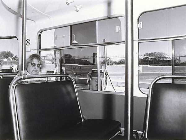 An image of Oxford Street bus lady