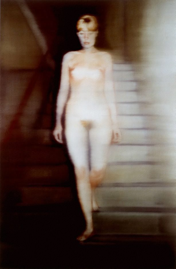 An image of Ema (nude on a staircase)