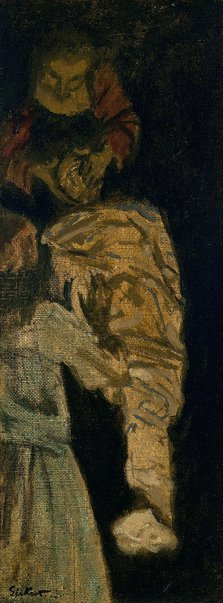 An image of Sketch for 'The raising of Lazarus' by Walter Richard Sickert