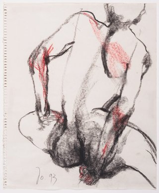 AGNSW collection John Olsen Seated female nude, back view (1993) 14.1996