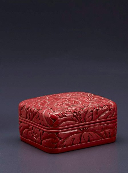 An image of Red lacquer box by