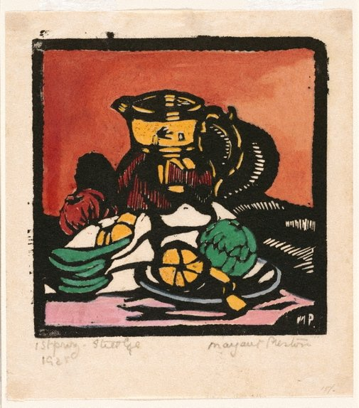 An image of Still life - jug by Margaret Preston