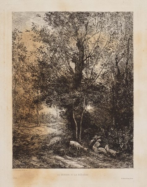 An image of The shepherd and shepherdess by Charles Daubigny