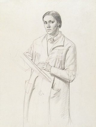 AGNSW collection Nora Heysen Self portrait with smock (1928) 140.1990