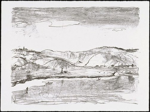 An image of Untitled (Illawarra landscape) by Lloyd Rees