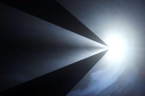 An image of Meeting you halfway II by Anthony McCall