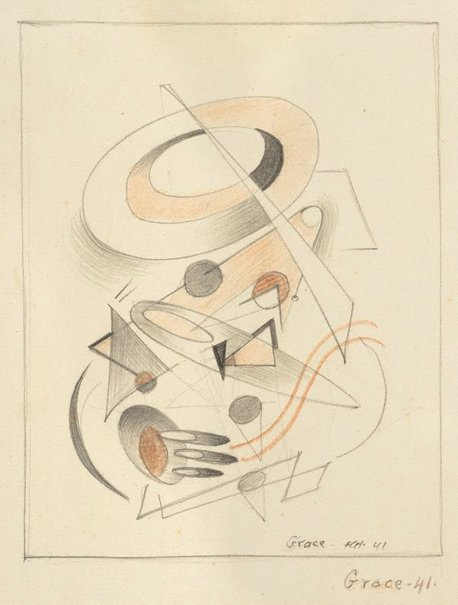 An image of Grace (Grace Crowley, abstract) by Frank Hinder