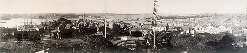 An image of Sydney Harbour from the Observatory by Unknown, Kerry & Co