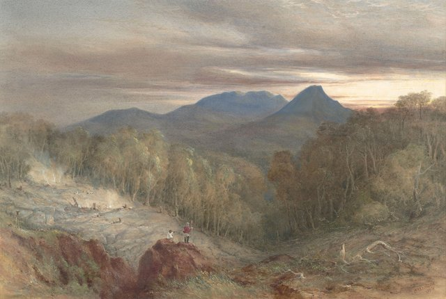 An image of Burning mountain (Mount Wingen, near Scone)