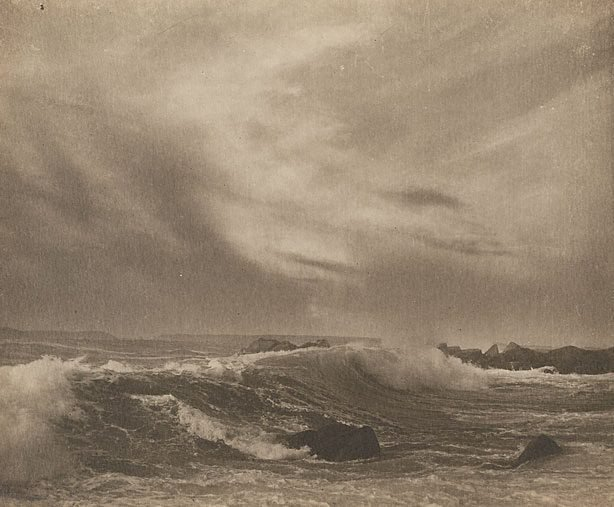 An image of Untitled (seascape, rock foreground)
