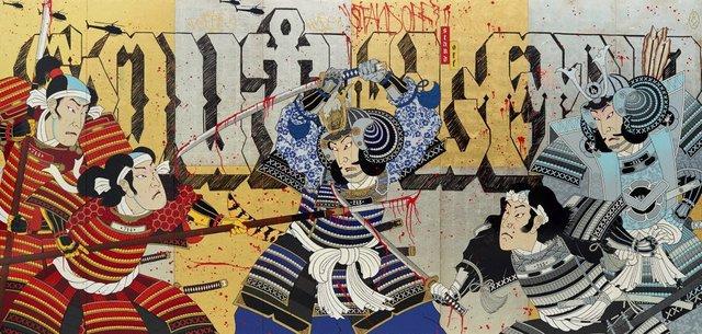 Southland standoff, (2013) by Gajin Fujita