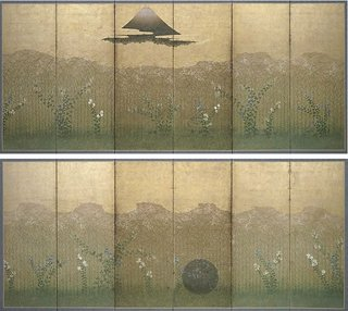 AGNSW collection The Plain of Musashi (late 17th century-18th century) 143.2000.a-b
